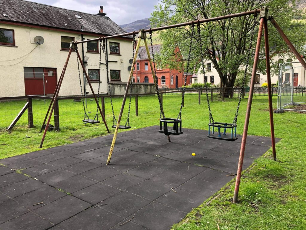 A set of swings in one of the play parks. NO F25 KL play parks 02