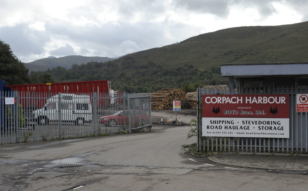 The entrance to Boyd Brothers at Corpach.
