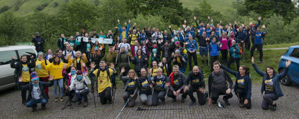 Charities unite for evening stroll up the Ben
