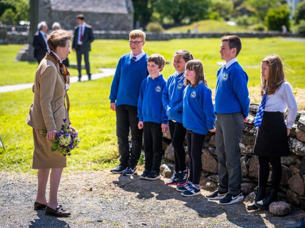Princess Royal visits Iona Abbey