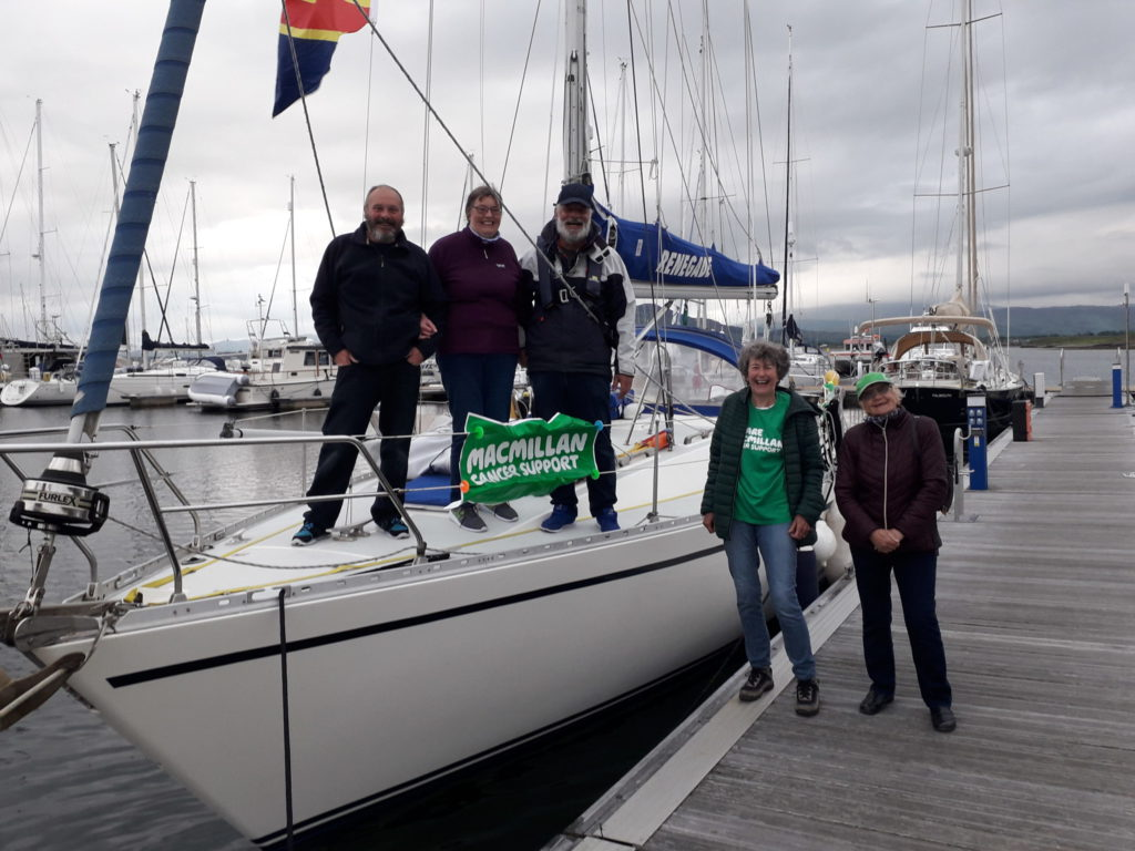 Olle weighs anchor in Oban to thank cancer charity
