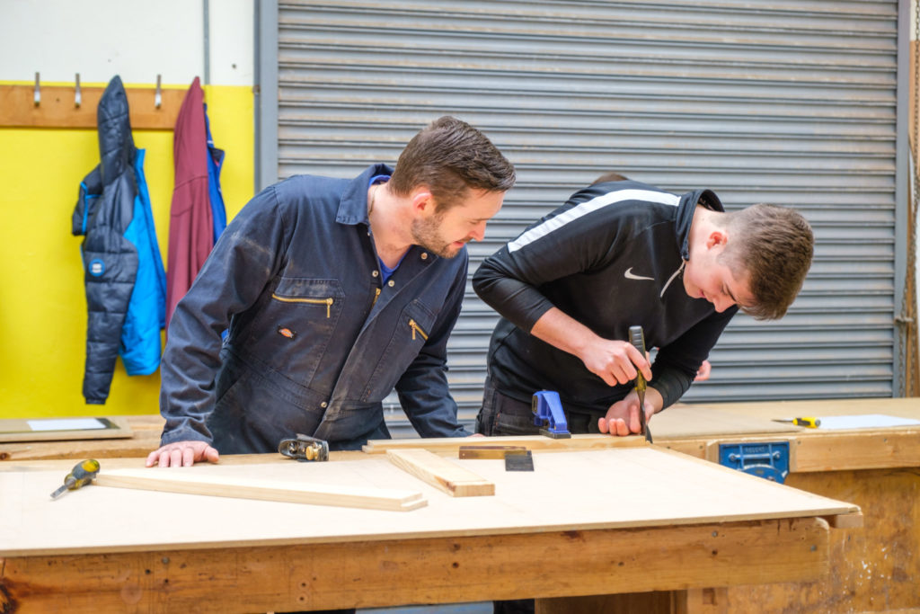 Lews Castle College UHI apprentices are taught by experienced tutors. No_F23construction01