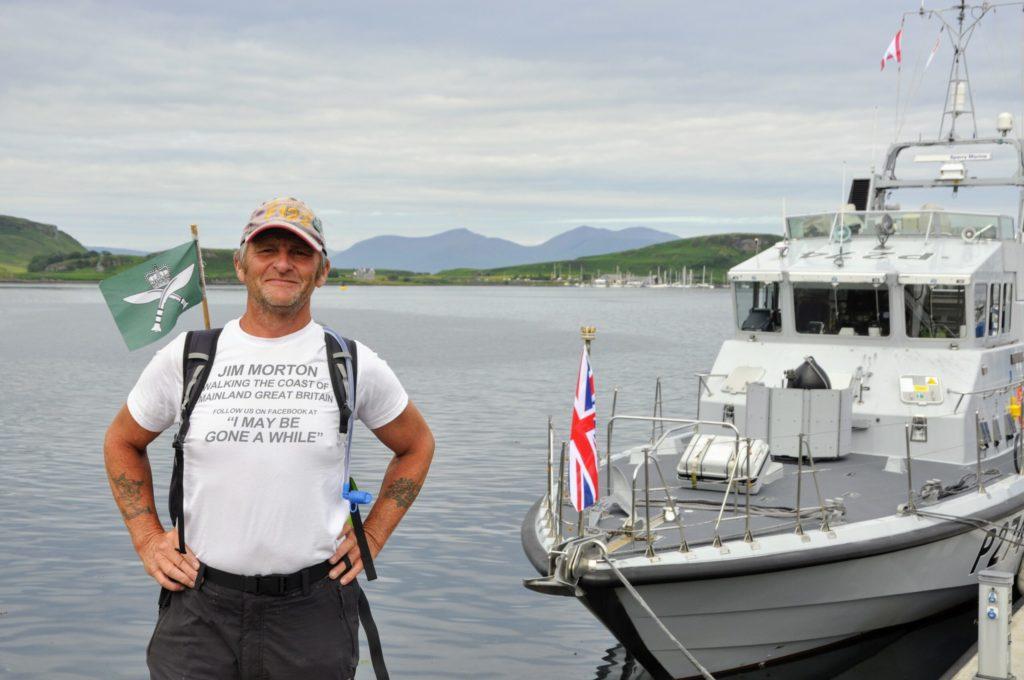 Jim's 7,500-mile walk for the Gurkhas brings him to Oban