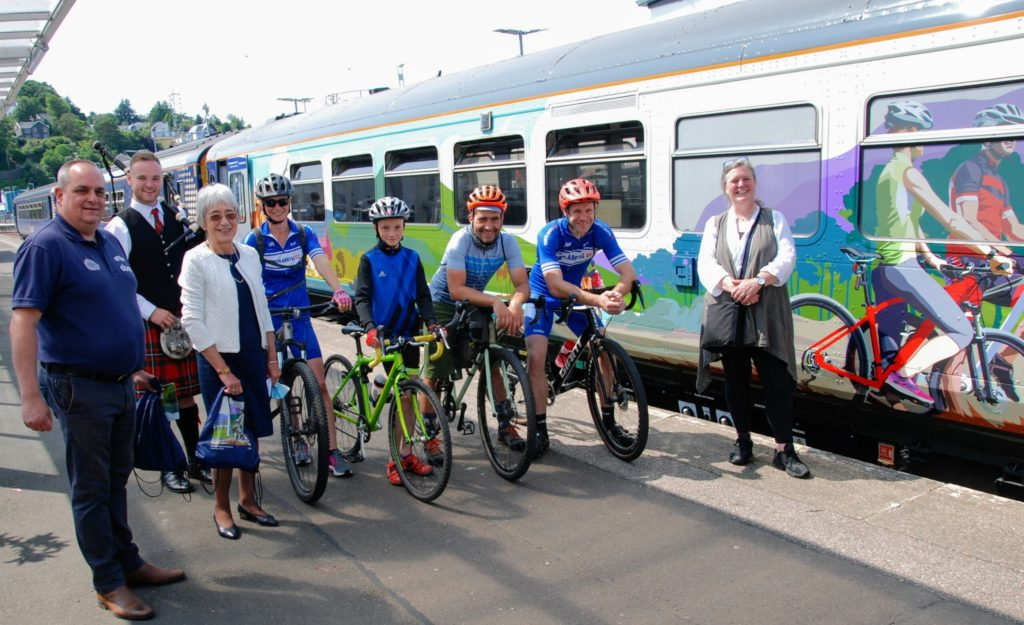 PIC SPECIAL: New bike-friendly train stops in Oban