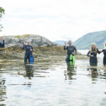 Local MSP Kate Forbes, second from left, gets ready to explore one of the marine sites listed on the new Lochaber Snorkel Trail. NO F29 snorkel 02