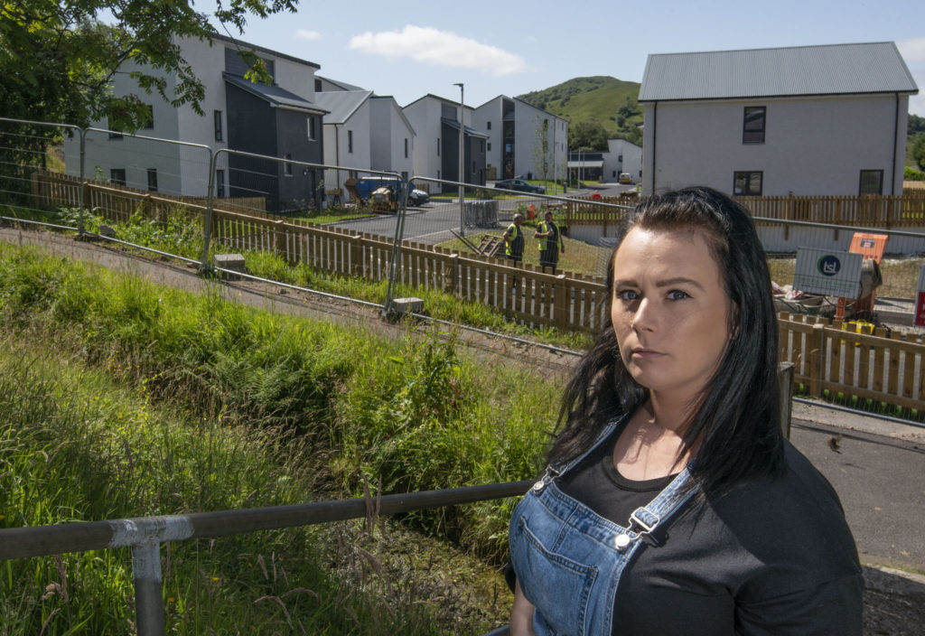 Alisha Lindsay, pictured, says she was offered a new house and then had it withdrawn a fortnight after accepting it. Photograph: Iain Ferguson, alba.photos NO F30 Alisha Lindsay 01