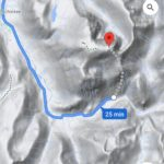 Screenshot showing the potentially dangerous route up Ben Nevis. NO F30 Ben_Nevis_danger_route