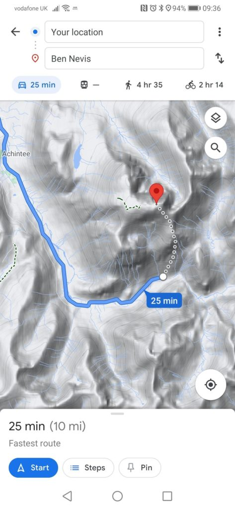 Google 'aware' of potentially fatal map mistake for Ben Nevis route