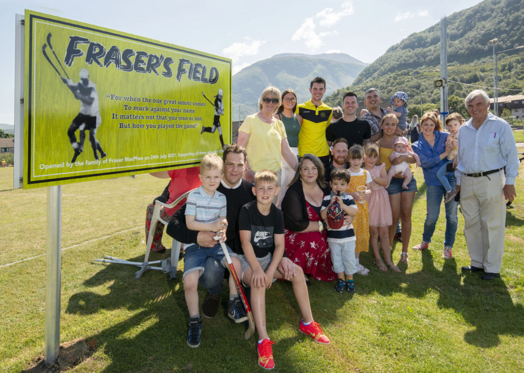Members of the MacPhee family who attended the opening of Fraser's Field. Photograph: Iain Ferguson, alba.photos NO F31 Frasers Field 01