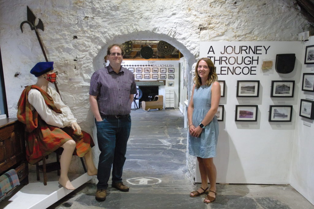 Redevelopment Manager David Rounce and Curator Catriona Davidson inside the current museum. NO F31 Glencoe Museum lottery award 02