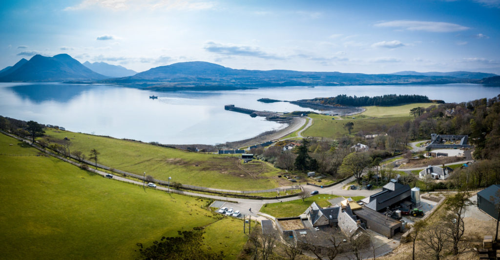 Tourism is vital to the economies of Skye and Raasay. Photograph: Isle of Raasay Distillery. NO F31 Raasay distillery 2