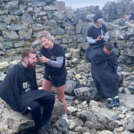 Stag and Buck's team plus their models took haircuts to new heights atop Ben Nevis at the weekend. NO F31 Stag and Buck 02