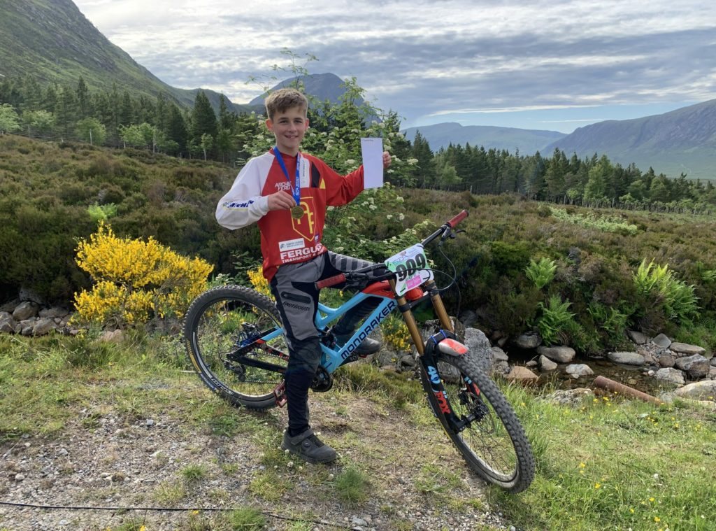 Young Archie is king of the hill at Glencoe