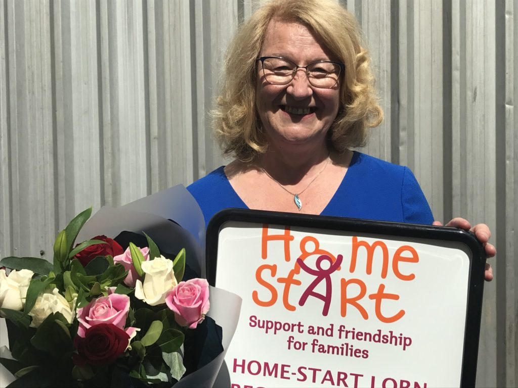 Charity wishes Aileen luck with new support role