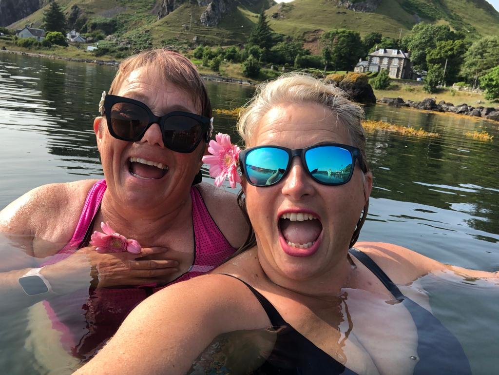 Fundraising swimmers lap up support