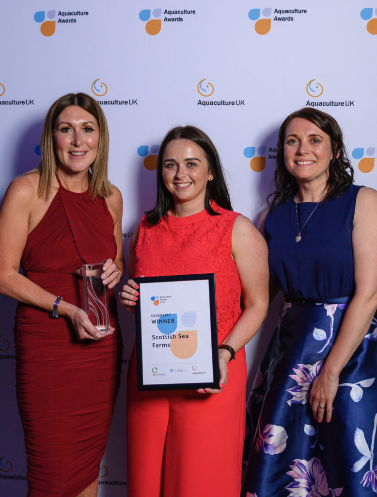 Salmon farmer's investment in people earns three top work awards