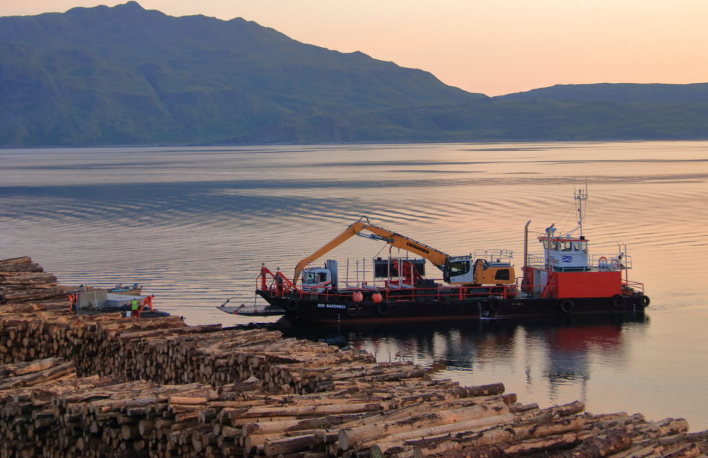 Timber plant arrives in Morvern by sea for the first time
