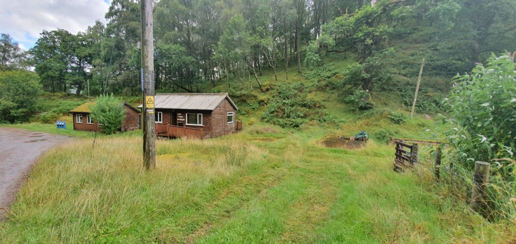 The acquisition of the Clunes Forest School buildings, pictured, and the adjacent Tom an Eireannaich woodland has come about after much hard work over the last few years. Photograph: ACF. NO F34 forest school sep 2020
