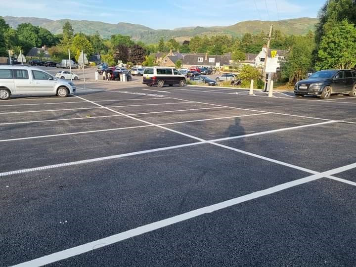 The new car parking area in Fort Augustus. NO F35 Fort Augustus car parking