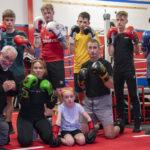 Members of the Lochaber Phoenix Boxing Club had fun celebrating International Boxing Day. Photograph: Iain Ferguson, alba.photos NO F36 Boxing Day 01