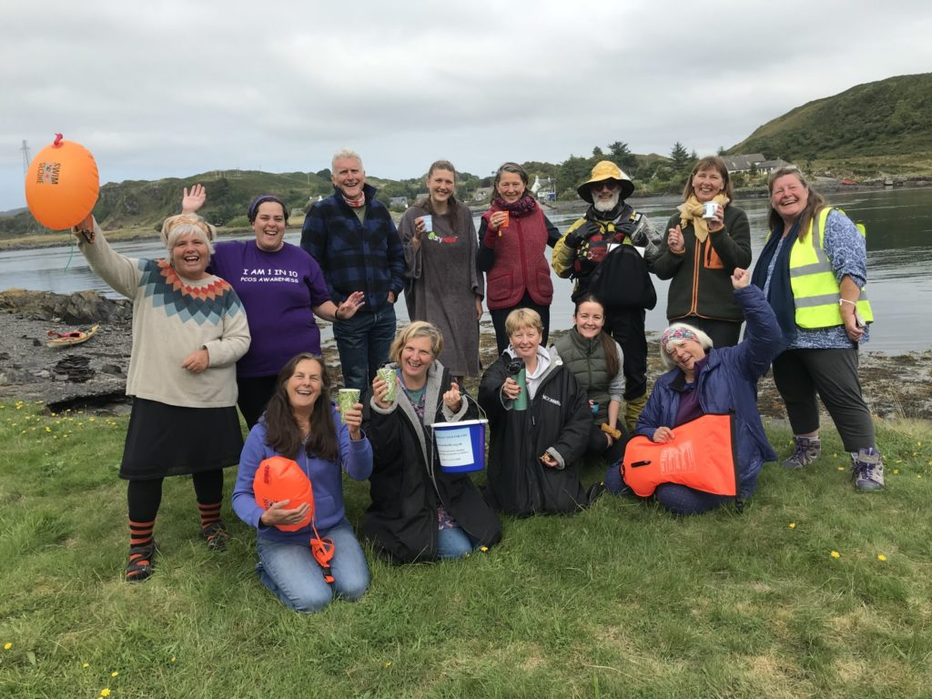 Swimmers take on the Cuan Sound for charity
