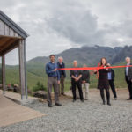 Finance and Economy Secretary and local Skye MSP, Kate Forbes, opens the new 140 space car park and off-grid toilets at the Fairy Pools, Glenbrilttle Skye. Photograph: Andrew Woodhouse – Skye Commercial Photography. NO F29 Fairy Pools 01