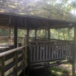 The Sgillean nan Coille woodland shelter has been well used in the years since it first opened. NO F36 woodschool 01