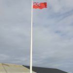 The Comhairle flew the Red Ensign at two of its properties to mark Merchant Navy Day. NO F37 Merchant Navy Day