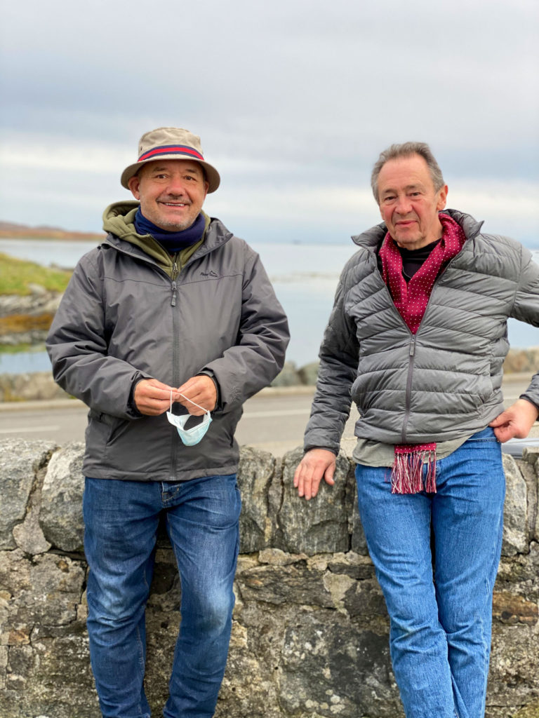 Bob Mortimer, left, and Paul Whitehouse pictured on North Uist. NO F37 Mortimer and White house 01