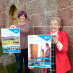 Chairperson of The Highland Council's Economy and Infrastructure Committee, Councillor Trish Robertson, right, joins council archaeologist Kirsty Cameron to launch the 2021 Highland Archaeology Festival. Photograph: Ewen Weatherspoon. NO F39 archaeology festival
