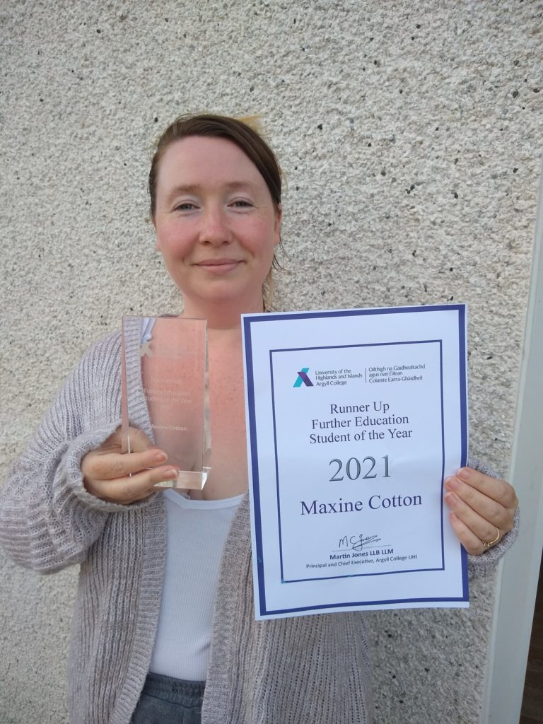 Argyll College praises Connel mum in its student awards