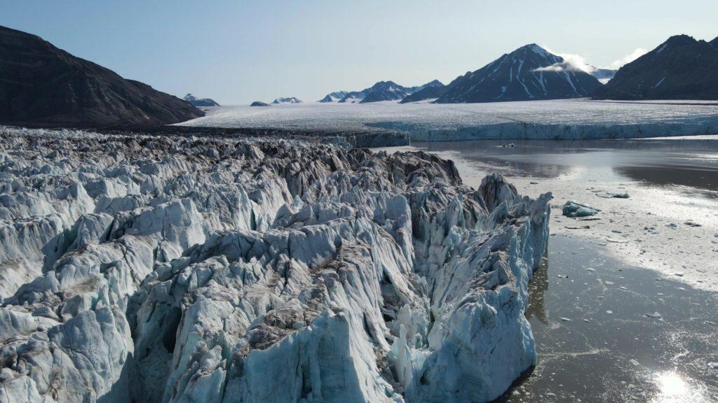 SAMS scientists and subs return safe from melting glacier in Svalbard