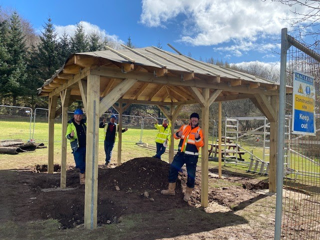 Roof truss firm supports school's outdoor zone