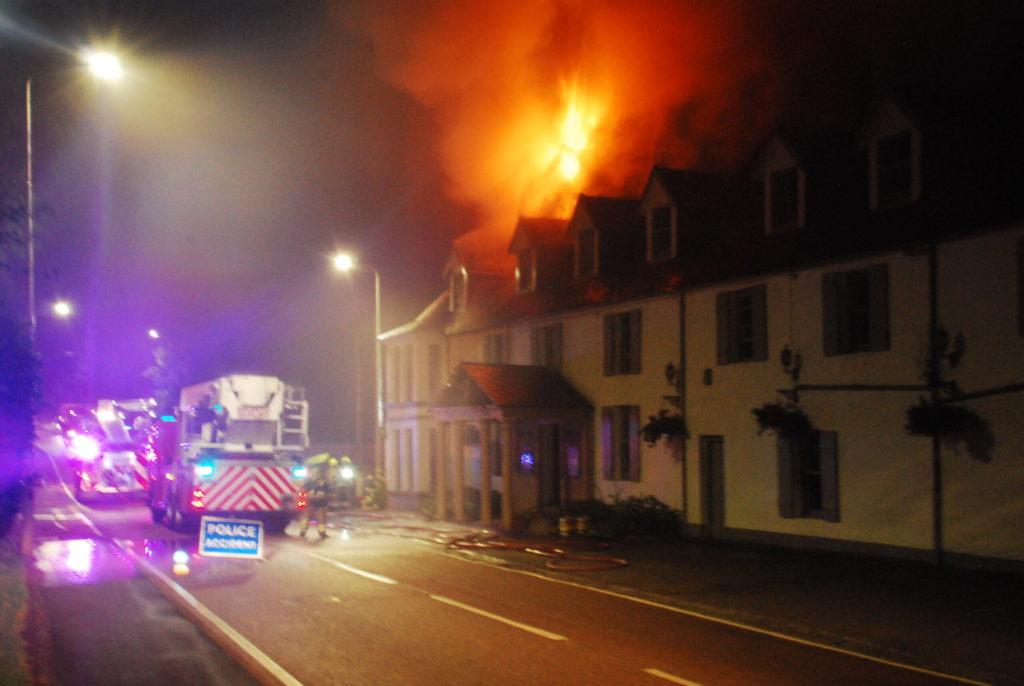 Hotel blaze shuts A85 at Taynuilt