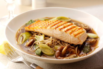 salmon and leek ramen