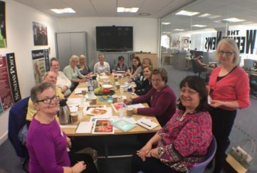 Fill in the booking form and you could have agreat day like these ladies at our People's Friend Glasgow workshop earlier this year.