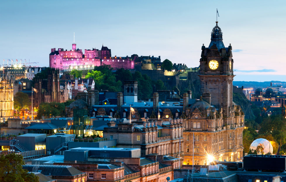 Edinburgh, home to Edinburgh Writers' Club