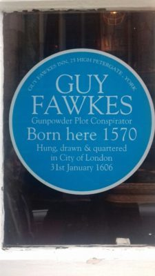 Guy Fawkes was born here in 1570