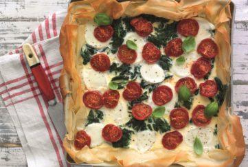 Spinach and Mozzarella Tart