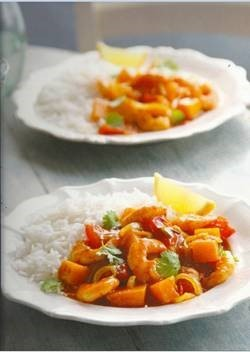 Butternut Squash and Prawn Rogan Josh