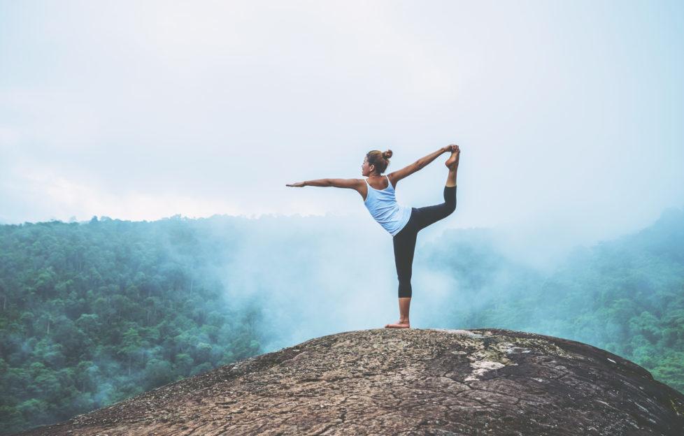 yoga on mountains