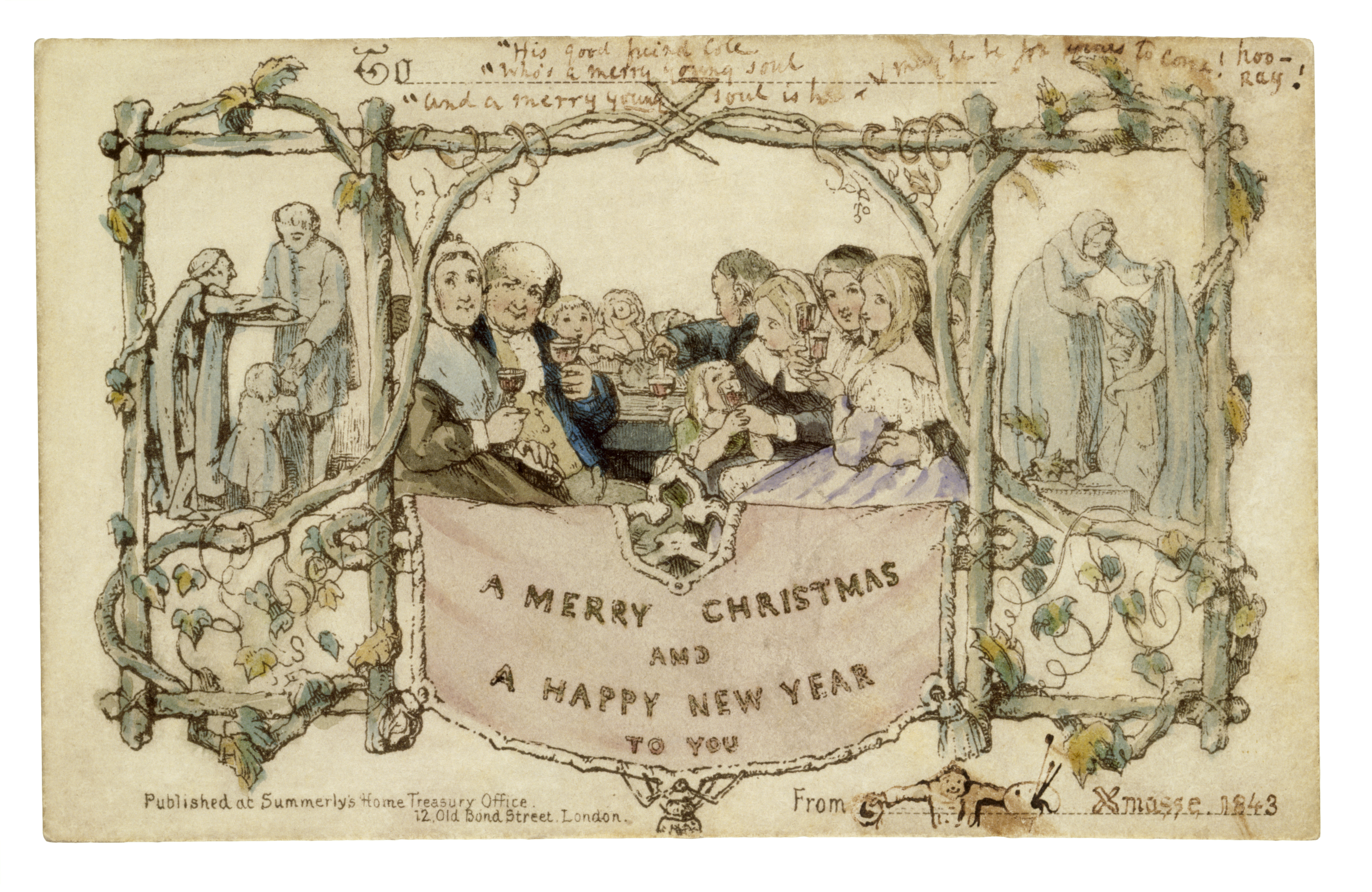 the first ever christmas card  the people's friend