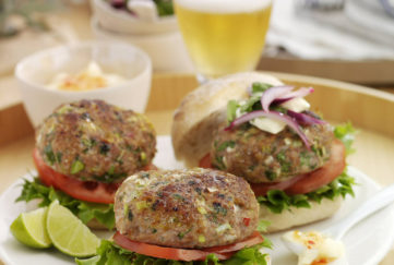 Thai Turkey Burgers