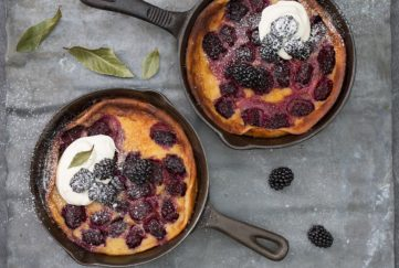Blackberry and Bay Clafoutis
