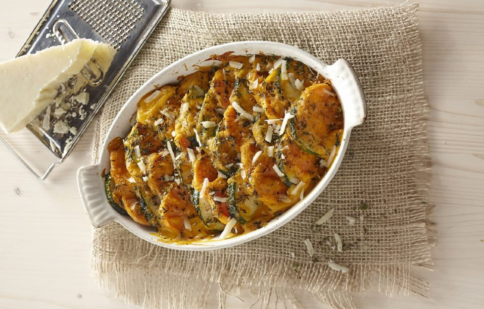 Sweet Potato and Courgette Bake