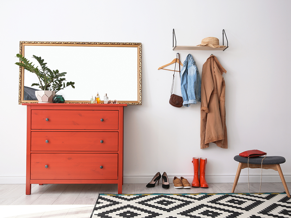 Bright colours look great in your entry hall