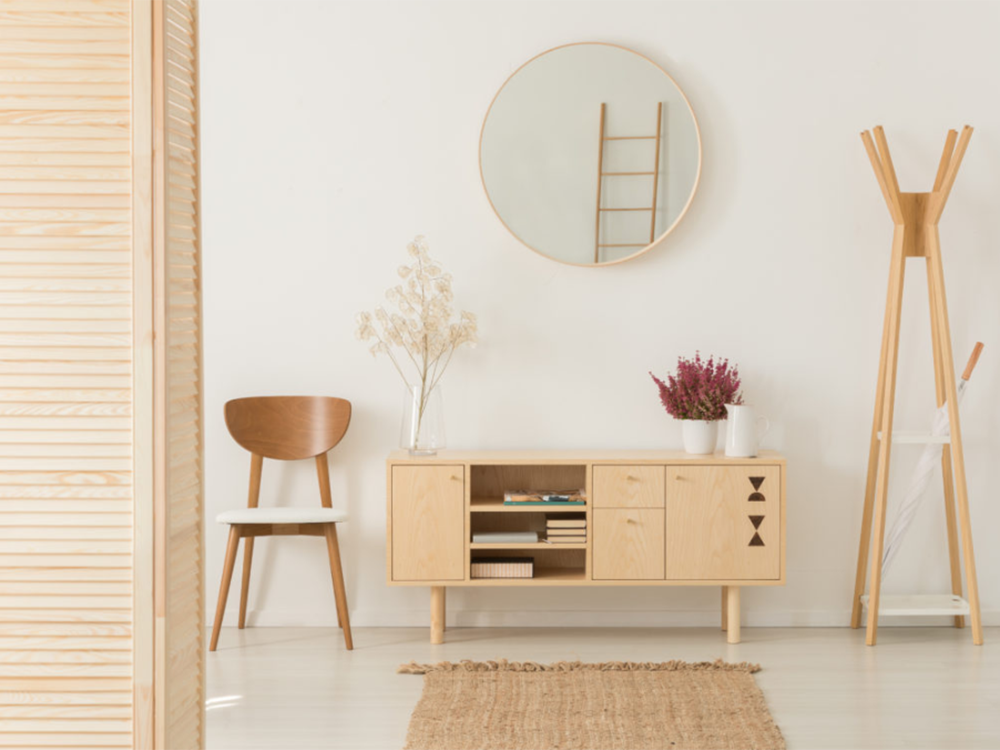 Love minimalism? Keep your entry hall clean and muted to reflect your taste