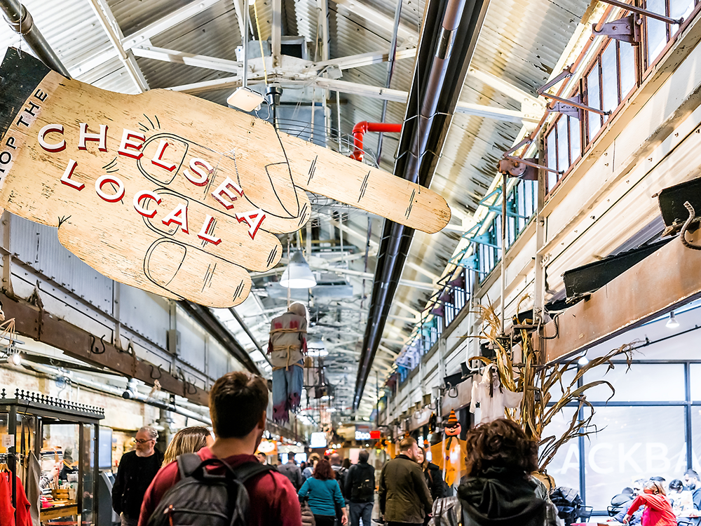 Head to Chelsea market in New York for all things food and crafts