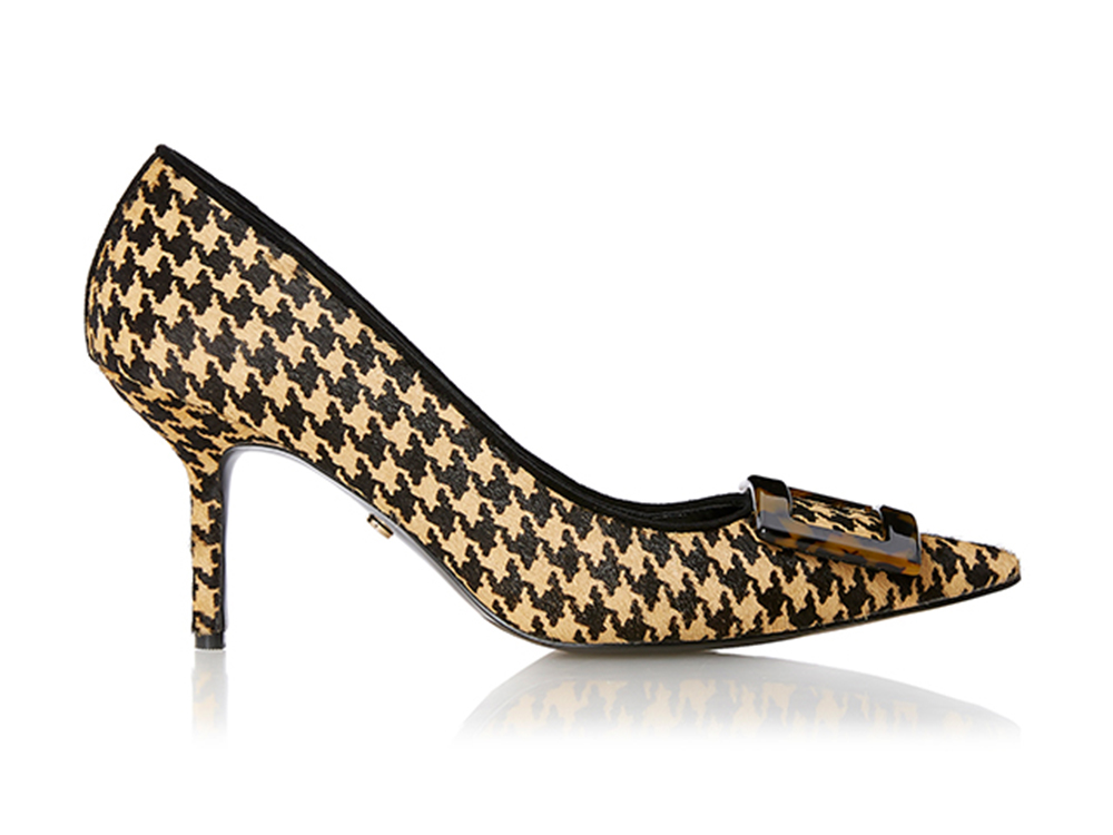 Stylish shoes have tweed and much more traditional patterns