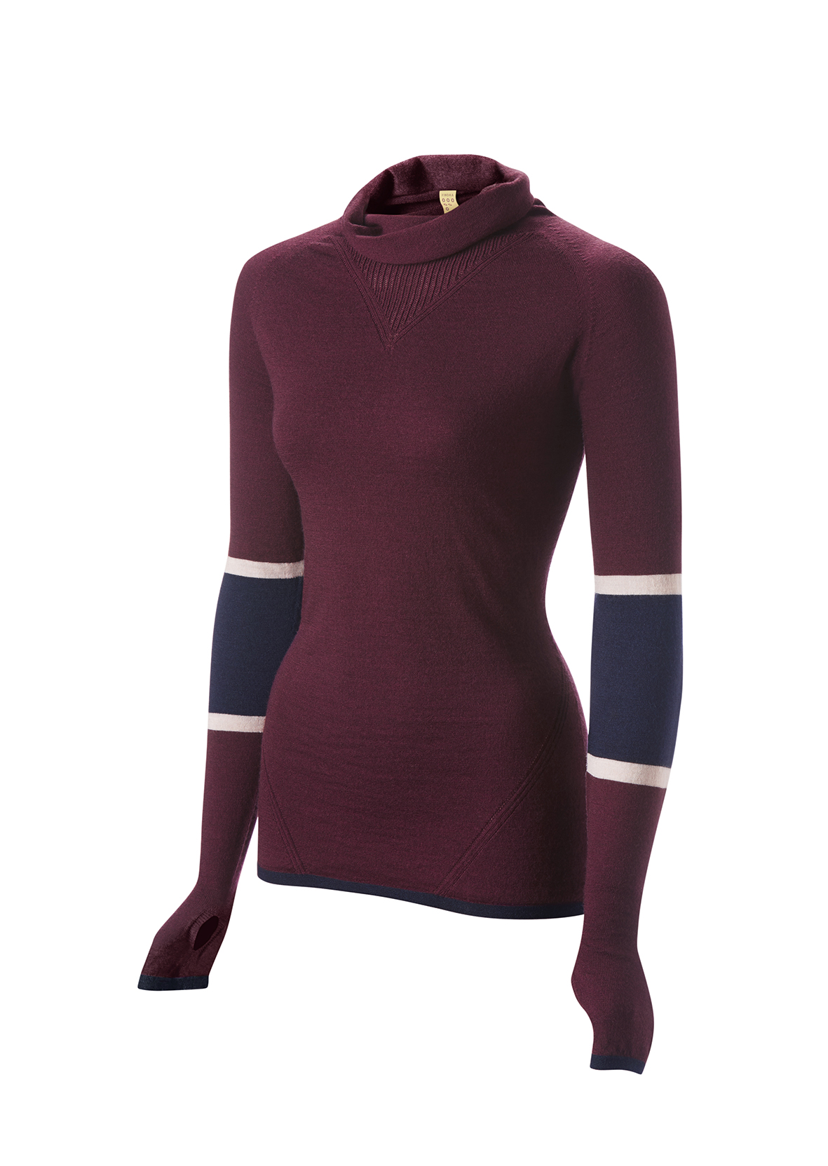 The Marin, merino wool cowl neck, £100, FINDRA